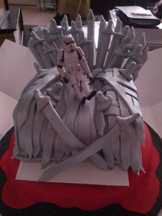 Iron Throne Birthday Cake